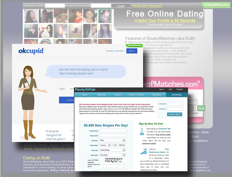 Top five online dating sites
